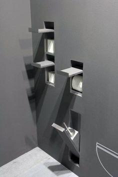 Top 70 besten coolen Badezimmer – Home Spa Design-Ideen - Mann Stil Spa Design, Design Ideas, Modern Bathroom, Small Bathroom, Bathroom Storage, Toilet Paper Dispenser, Toilet Design, Bathroom Toilets, Home Spa