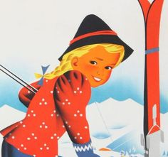 WINTER IN AUSTRIA - Vintage Ski Poster Vintage Ski Posters, Harry Potter Poster, Thing 1, Photo Canvas, Travel Posters, Digital Image, Wrapped Canvas, Skiing, Austria Travel