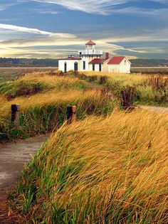 West Point Lighthouse in Discovery Park--Seattle, Washington,