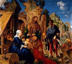 Albrecht Dürer: Adoración de los Reyes.