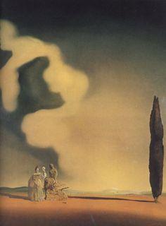 Nuage fossiles, 1934, huile de Salvador Dali (1904-1989, Spain)