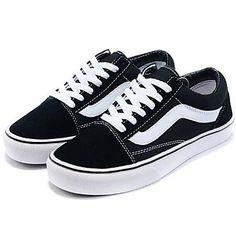 1e3d30579c42   12.86  Mulheres Lona Primavera   Outono Conforto Tênis Sem Salto Preto.  Womens Vans SneakersConverse ShoesShoes SneakersVans SuedeTop ...