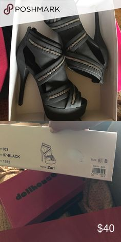 Baker peep toe high heels Black high heels. Baker brand. Barely worn Bakers Shoes Heels