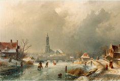 'Charles' Henri Joseph Leickert (Brussel 1816-1907 Mainz (Duitsland)) IJsvermaak bij Amersfoort .
