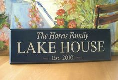 Lake House Sign Beach House .. Carved signs by SignsofaDaydreamer