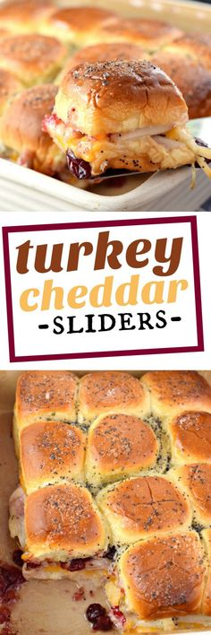 Shugary Sweets Turkey Cheddar Sliders - Shugary Sweets Transform your leftover turkey into something delicious. These Turkey Cheddar Sliders are an easy meal idea for the crazy, after Thanksgiving shopping weekend! Thanksgiving Recipes, Fall Recipes, Holiday Recipes, Thanksgiving Leftovers, Turkey Leftovers, Turkey Food, Thanksgiving Baking, Turkey Ham, Sliced Turkey