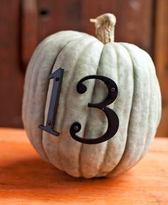 """Decorate Pumpkins with Hardware"" - part of a slideshow post from The New Home Ec::12 Great Ways to Decorate with Pumpkins!"