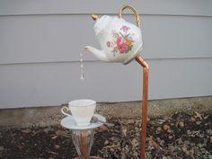 English Tea Pot, Tea Cup and Saucer Garden Stakes   Hometalk