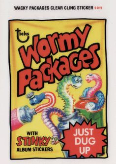 Wacky Packages All-New Series 2 Clear-Cling Stickers # 9 Wormy Packages - Topps - 2005