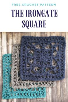 This free crochet pattern is a wonderfully intricate yet simple to make granny square! The Irongate Square is part of in which a new square pattern is released by hooks & sunshine each week. patterns granny square The Irongate Square Free Crochet Pattern Point Granny Au Crochet, Granny Square Pattern Free, Crochet Squares Afghan, Crochet Motifs, Granny Square Crochet Pattern, Crochet Blocks, Crochet Blanket Patterns, Crochet Afghans, Crochet Stitches