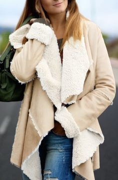 An asymmetric coat to keep you stylish and warm for the winter!