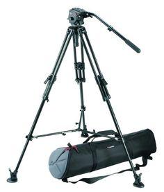 Bogen / Manfrotto Pro Video Kit w/351MVB2 Aluminum Tripod Legs, 503 Pro Fluid Head, 75mm Half Ball, Spreader, Shoes