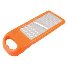 """Amico Home Orange Plastic Frame 4 Side Vegetable Peeler Cheese Fruit Graters by Amico. $4.47. Color : Orange, Silver Tone;Overall Size(Approx) : 21.5 x 9 x 2cm/ 8.4"""" x 3.4"""" x 0.78"""" (L*W*T); Net Weight : 47g; Grater Size : 13 x 7cm / 5"""" x 2.75""""(L*W); Product Name : Grater Peeler;Material(Approx) : Plastic, Stainless Steel; Package Content : 1 x Grater Peeler. The Kitchen hand tool can be used as a grater and a peeler. Two different sizes holes and a blade design for your c..."""