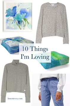 Here's a collection of my latest 10 things I'm loving right now with a soothing and relaxing blue as the sea mood.