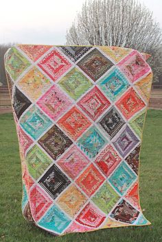 String Quilt--great way to use up your scraps