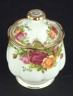 Royal Albert Old Country Roses Lidded Preserve Jar 1962-73 VGC