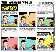 Tom Tomorrow sets the template cartoon for every post-massacre argument.