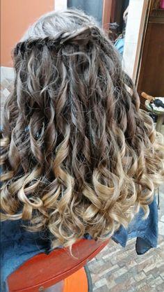 #homecoming #waterfall #cascade #braid #curls