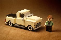 Truckin' can be lonesome in a minifigure scale truck