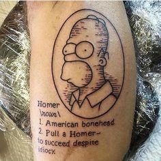 "@melaniemilnetattoos ""Pull a Homer - to succeed despite idiocy"" --------------------------------------------- #thesimpsonstattoo #thesimpsons #simpsonstattoo #simpsons #tattoo #moe #inked #tat #tattyslip #simpsonsfan #homer #bart #lisa #maggie #marge #mattgroening #futurama #cartoontattoo #cartoontats #epictattoo #simpsonstat"