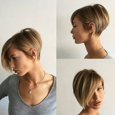 """8,505 Likes, 87 Comments - Short Hairstyles   Pixie Cut (@nothingbutpixies) on Instagram: """"Give me one word to describe @domdomhair cut on former long haired model @adrianna.christina"""""""