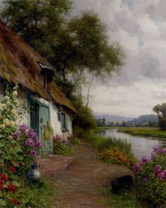 Louis Aston Knight A Riverside Cottage