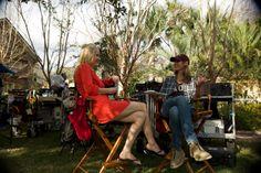 Dana and Georgina enjoy another beautiful day on set #Charleston #Reckless