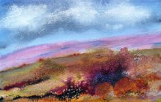 'Gentle days' by Patricia Lane (Acrylic paint & acrylic inks with natural additions, 16.5cm x 25.5cm)