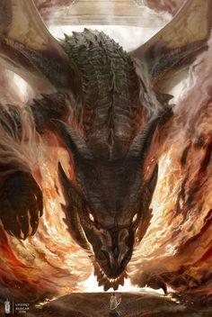 62 ideas tattoo dragon fire mythical creatures for 2019 Mythical Creatures Art, Mythological Creatures, Dark Fantasy Art, Fantasy Artwork, Dragon Medieval, Arte Game Of Thrones, Cool Dragons, Dragon's Lair, Dragon Artwork