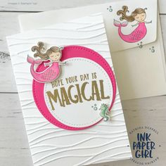 Stampin' Up! Magical Day, Occasions Catalogue 2018, Katrina Duffell - Independent Stampin' Up! Demonstrator Sydney Australia, Mermaid Cards, Kids Cards JANUARY 2018 MOTHER & DAUGHTER CARD MAKING CLASS Date: January, Wednesday 17th, 2018