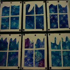 Kindergarten Art Projects, Classroom Art Projects, Art Classroom, January Art, 2nd Grade Art, Winter Art Projects, 3d Christmas, Art Lesson Plans, Winter Theme