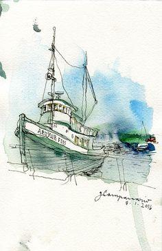 Same boat, different takes - Gabriel Campanario
