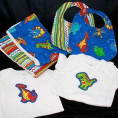 Dinosaur Baby Boy Set by NeekoandAdily on Etsy, $42.00