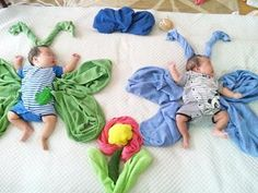 sleeping baby butterflies