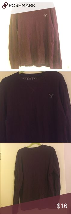 Men's Maroon American Eagle Long Sleeve Shirt MEN'S long sleeve shirt from AmericanEagle. Worn a handful of times. Size Large. Deep Maroon color. American Eagle Outfitters Tops
