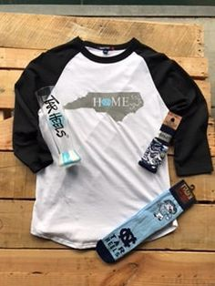 North Carolina Home NC Baseball Jersey TShirt by HeyYallandCo on Etsy