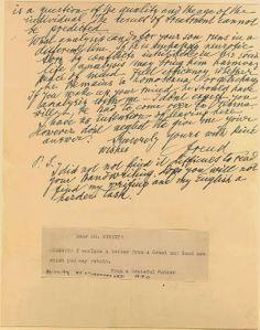 Sigmund Freud's Letter Regarding Homosexuality freudquotes.blogspot.com/2014/02/sigmund-freud-on-homosexuality.html