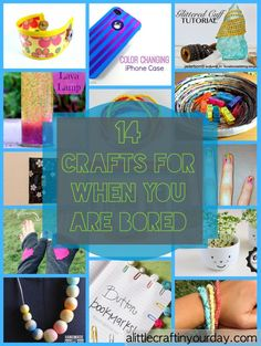 14 Craft For When You Are Bored | A Little Craft In Your Day - i just wish i had this today...
