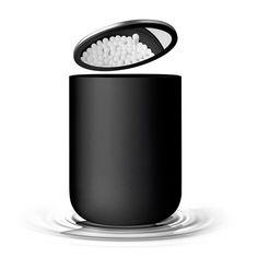 menu mirror container black