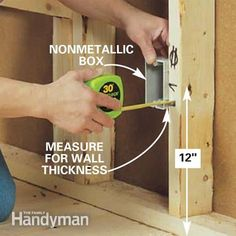 ❧ Place the box on the framing member. Position the box so its face will be flush with the wall covering material. Then nail the box to the fr...