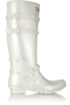 Festival pearlescent Wellington boots by Hunter Rain And Snow Boots, Rubber Rain Boots, Hunter Original, Wellington Boot, Discount Designer Clothes, Clothes For Sale, High Fashion, Booty, The Originals