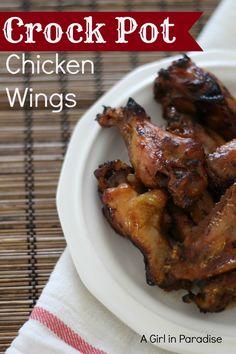 Crock Pot Chicken Wings #crockpot #slowcooker #chickenwings