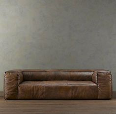 Oh. Delicious. chocolate brown leather sofa