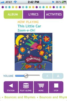 The Kindermusik Radio app is like Pandora for kids