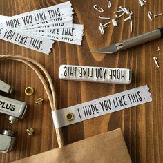 【TAM'S WORKS作品プレゼント】「消しゴムはんこ」で作るギフトタグ| by TAM'S WORKS