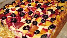 Túrós köleskocka   Nosalty Healthy Sweets, Hawaiian Pizza, Gluten Free Recipes, Vegetable Pizza, Free Food, Oatmeal, Clean Eating, Pie, Baking