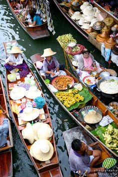 Floating market Bangkok - photography by terence ho