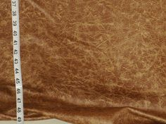 Faux leather fabric Pleather cognac brown from Brick House Fabric: Novelty Fabric