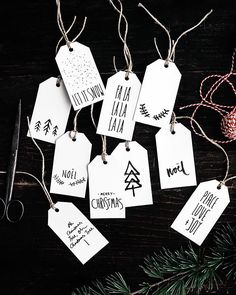 free printable christmas gift tags... yes please! hand sketched gift tags from last year are ready & waiting on the G&F site for you & your gift wrapping good times! also stay tuned for this years edition coming this week! ✌️x #gatherandfeast