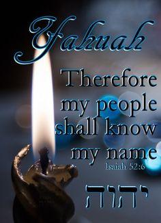 Hallelu'Yah Isaiah 52:6